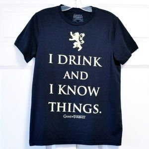 Game of Thrones I Drink and Know Things HBO Shirt